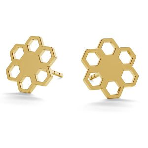 Flower post earrings gold 14K LKZ-00668 KLS - 0,30 mm