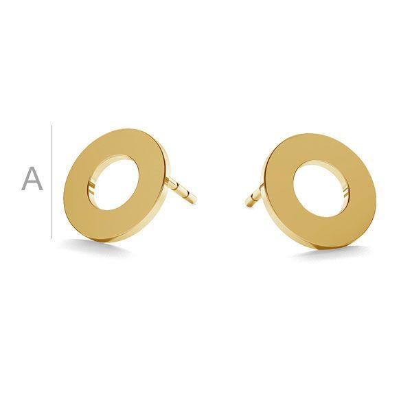 Round post earrings gold 14K LKZ-00671 KLS - 0,30 mm