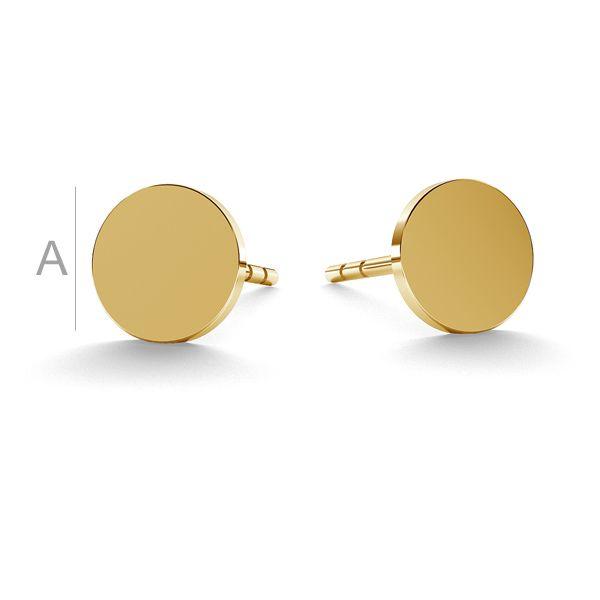 Round post earrings gold 14K LKZ-00933 KLS - 0,30 mm