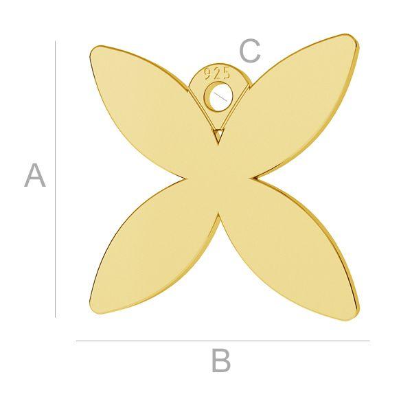 Butterfly pendant, LK-0888 - 0,50
