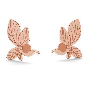 Leaf earring (2058 SS 7), LK-0962 KLS - 0,50