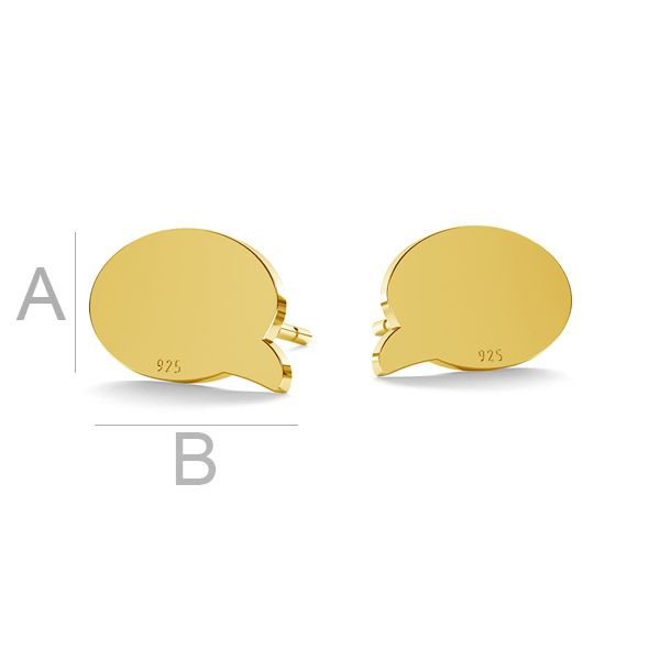 Comics cloud earring, LK-0960 KLS - 0,50