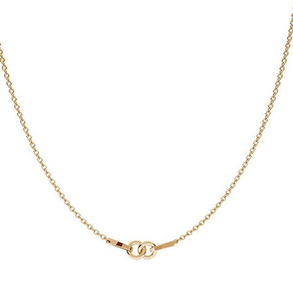 Gold necklace base S-CHAIN 2 - (20+20 cm) AU 585 14K