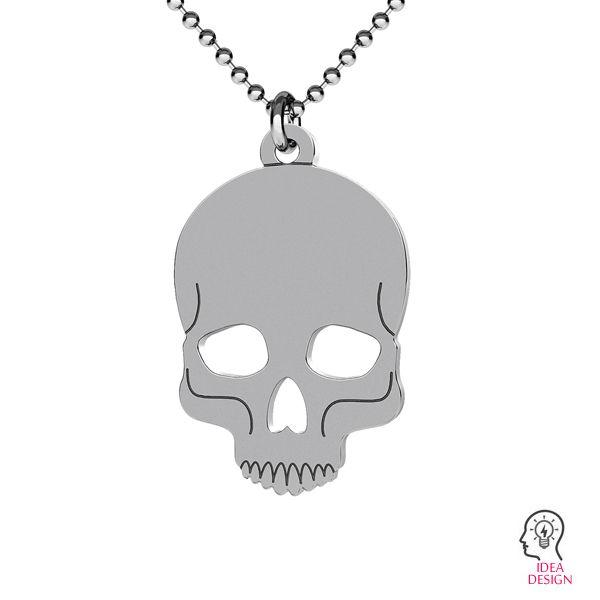 Skull halloween pendant, LK-1016 - 0,50
