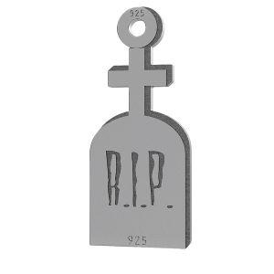 Tombstone halloween pendant, LK-1019 - 0,50