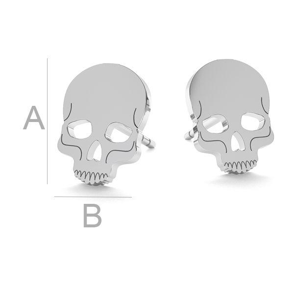 Skull halloween earrings, LK-1023 - 0,50
