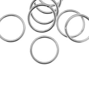 KCZ 1,5x12,5 mm - Soldered jump rings, sterling silver 925