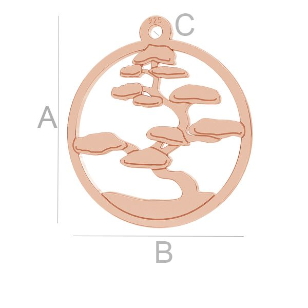 Bonsai tree pendant, LK-1033 - 0,50
