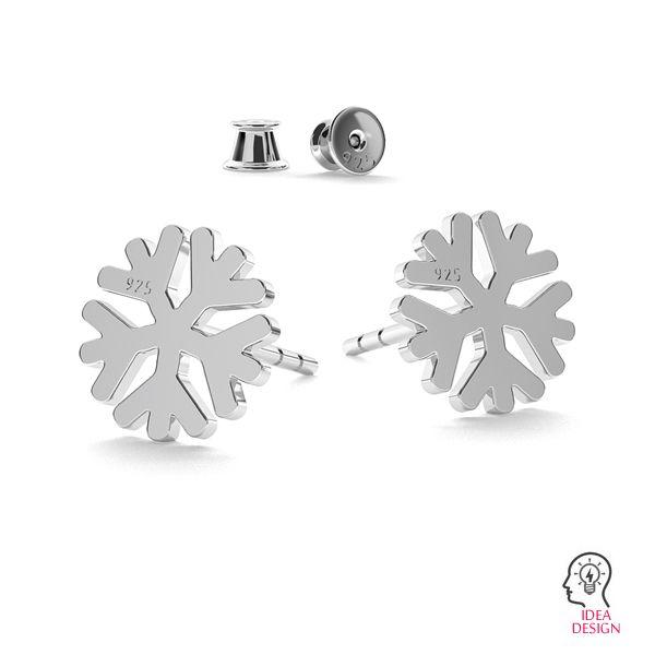 Snowflake earrings LK-1074 - 0,50