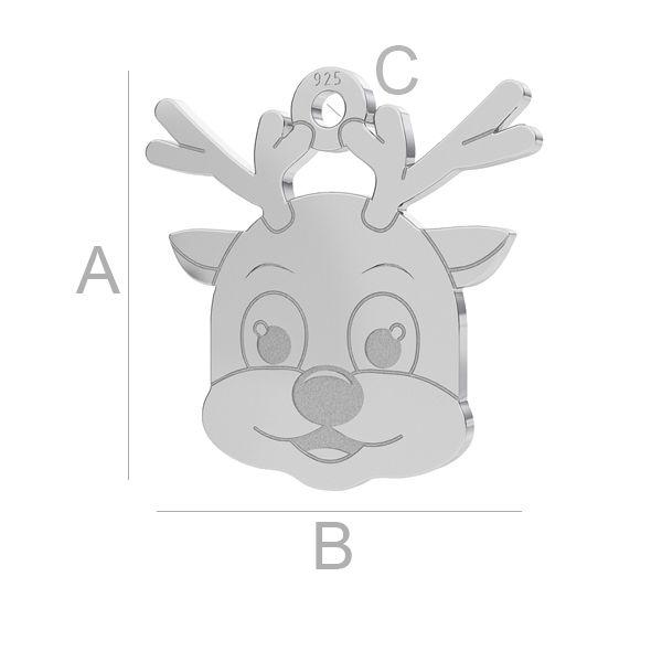Reindeer pendant LK-1076 - 0,50