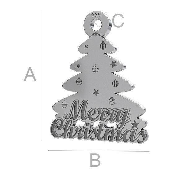 Christmas tree pendant LK-1086 - 0,50