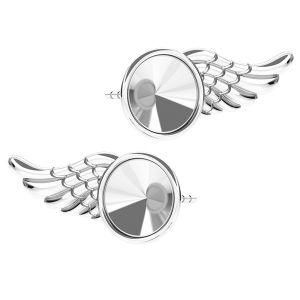 Wing earrings for Rivoli 6mm ODL-00266 L+R (1122 SS 29)