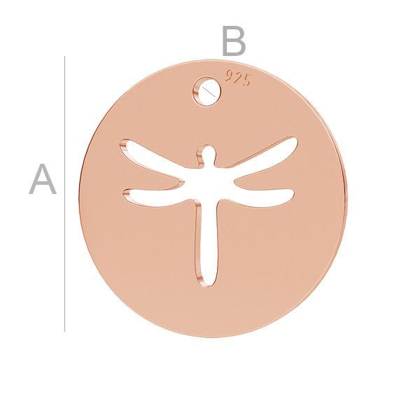 Dragonfly charm, LK-1119 - 0,50