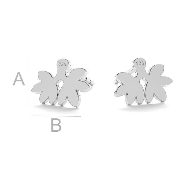 Leaf earrings LK-1116 - 0,50 - KLS