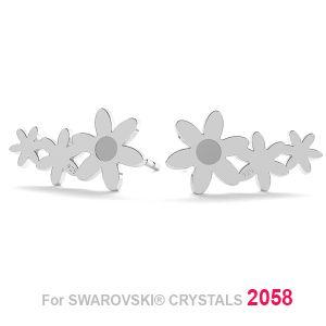 Flower earring (2058 SS 7), LK-1179 KLS - 0,50