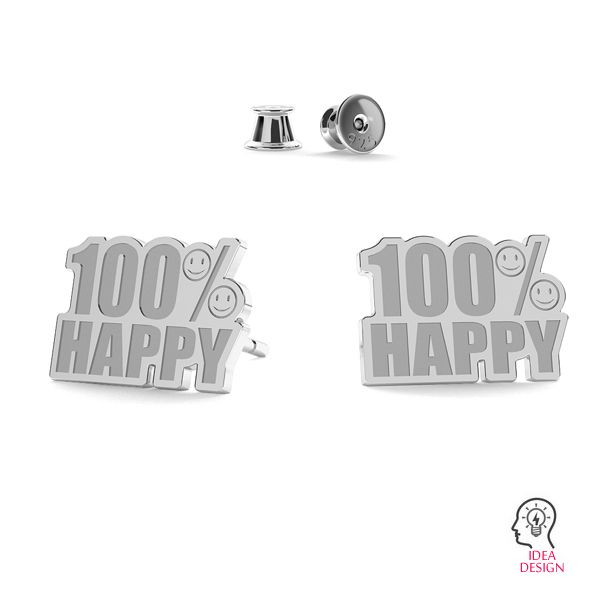 100% Happy earrings LK-1190 - 0,50 - KLS