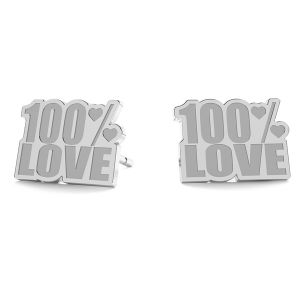100% Love earrings LK-1193 - 0,50 - KLS