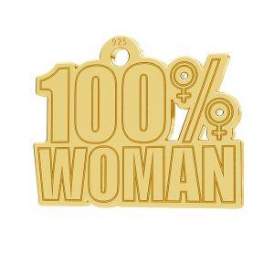 100% Woman pendant, LK-1182 - 0,50