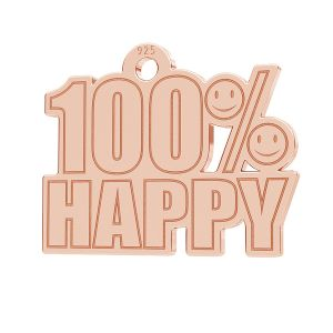100% Happy pendant, LK-1183 - 0,50