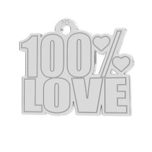 100% Love pendant, LK-1185 - 0,50