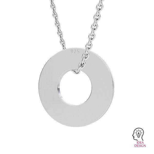 Donut blank disk pendant, LK-1223 - 0,50