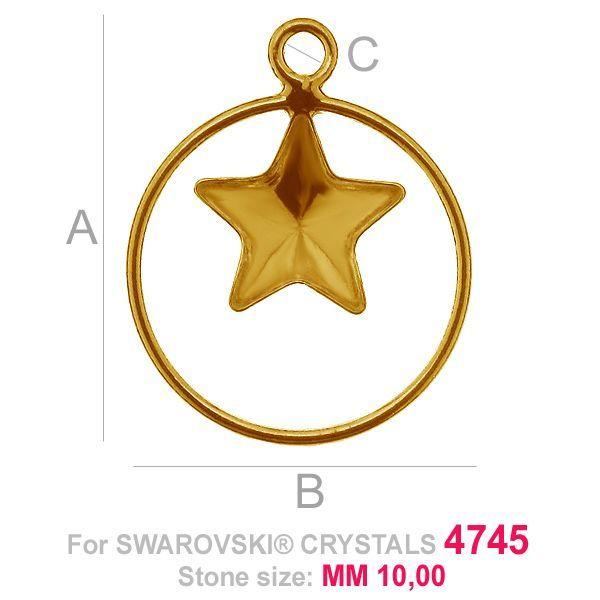Star 10mm Swarovski base SKSV 4745 MM 10 CON1 KCL 0,9x2,0