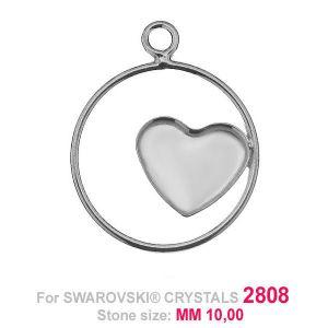 Heart 10mm Swarovski base HKSV 2808 MM 10 CON1 KCL 0,9x2,0