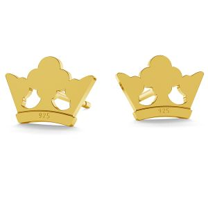 Crown earrings LK-1216 - 0,50 - KLS