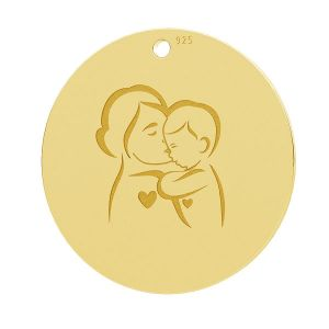 Mother child, round pendant, LK-1281 - 0,50