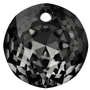 Classic Cut Pendant, Swarovski Crystals, 6430 MM 8,0 CRYSTAL SILVER NIGHT