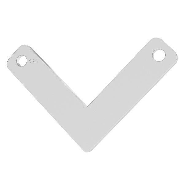 V pendant, sterling silver 925, LK-1073 - 0,50