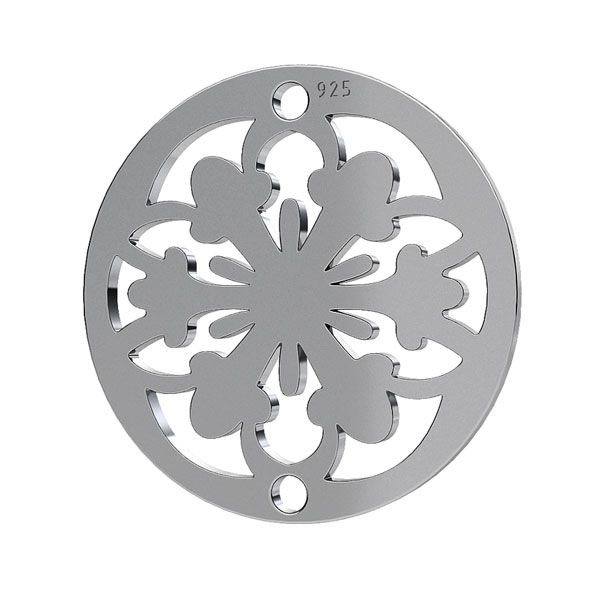 Rosette pendant, sterling silver 925, LK-1259 - 0,50