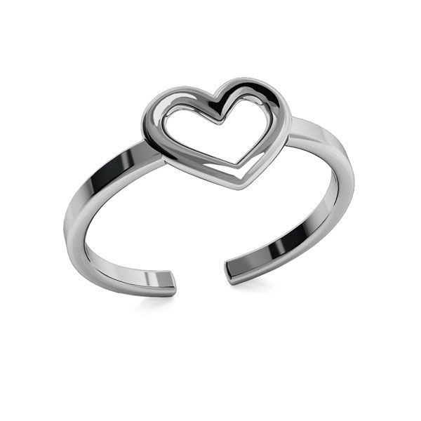 Heart ring, sterling silver, ODL-00317