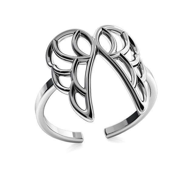 Wings ring, sterling silver 925, ODL-00320