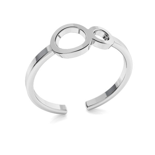Infinity ring, sterling silver 925, ODL-00319