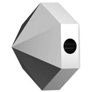 Hexagon Spike Bead, Swarovski Crystals, 5060 MM 5,5 CRYSTAL LIGHT CHROME
