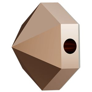Hexagon Spike Bead, Swarovski Crystals, 5060 MM 5,5 CRYSTAL ROSE GOLD