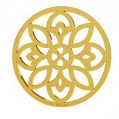 Gold rosette pendant, AU 585 14K, LKZ-00619 - 0,30