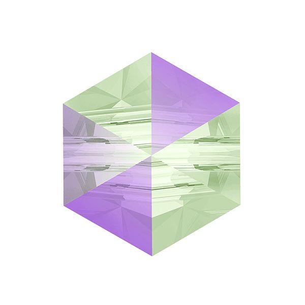 Hexagon Spike Bead, Swarovski Crystals, 5060 MM 7,5 CRYSTAL  PARADISE SHINE