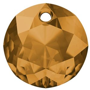 Classic Cut Pendant, Swarovski Crystals, 6430 MM 14,0 TOPAZ