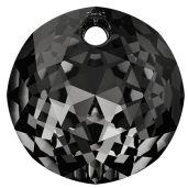 Classic Cut Pendant, Swarovski Crystals, 6430 MM 14,0 CRYSTAL SILVER NIGHT