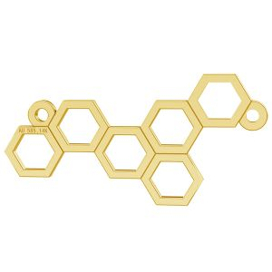 Honeycomb gold pendant connector, AU 585 14K, LKZ-00348 - 0,30