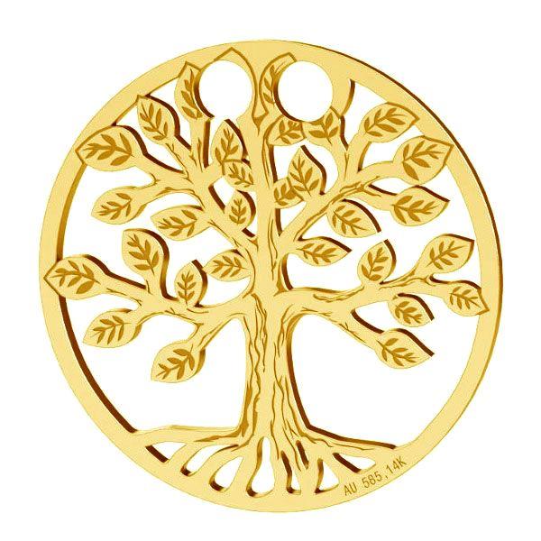 Tree of life pendant, gold 14K, LKZ-00450 - 0,30