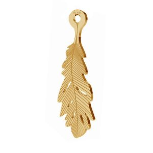 Feather pendant, gold 14K, LKZ-00391 - 0,30