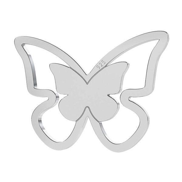 Butterfly pendant, sterling silver 925, LK-1273 - 0,50