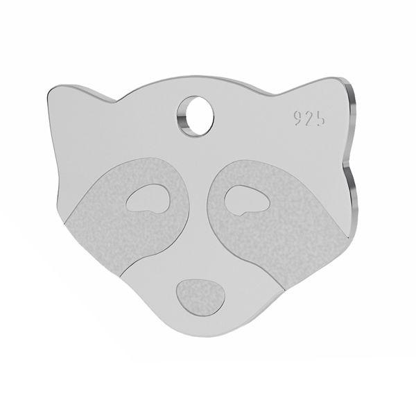 Raccoon pendant, silver 925, LK-1311 - 0,50