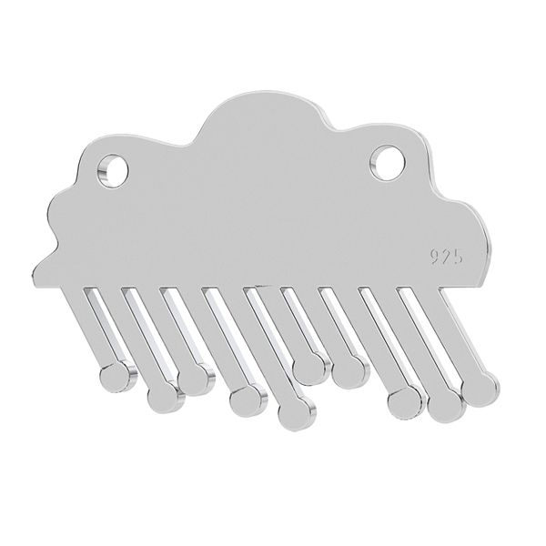 Rainy cloud pendant, sterling silver 925, LK-1202 - 0,50