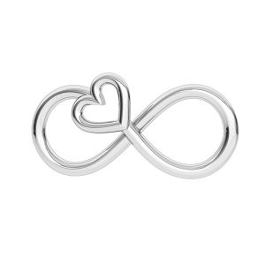 Infinity sign pendant, sterling silver 925, ODL-00332