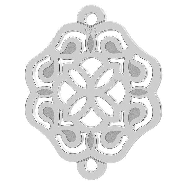 Rosette pendant connector, sterling silver 925, LK-1263 - 0,50