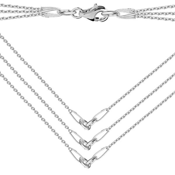 Base for necklaces, sterling silver 925, S-CHAIN 15 - A 030